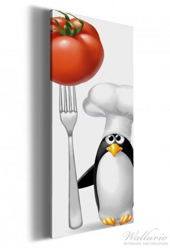 leinwandbild pinguin koch wandbilder leinwandbilder k che 60 x 150. Black Bedroom Furniture Sets. Home Design Ideas